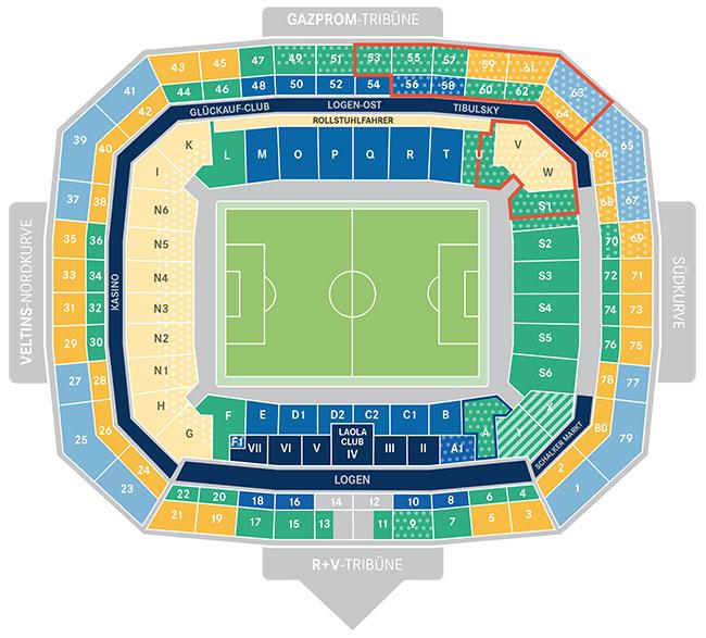 Schalke Stadionplan