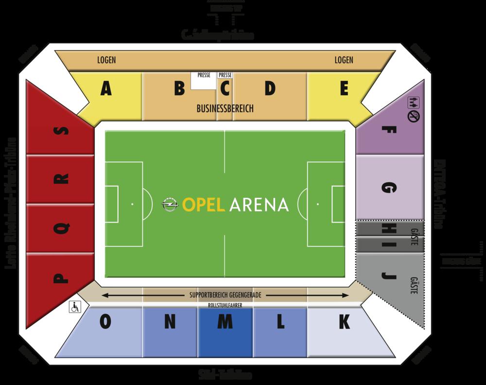 Mainz Stadionplan